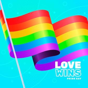 Kleurrijke trots dag vlag concept