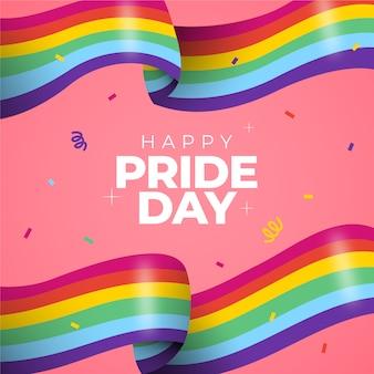 Kleurrijke trots dag vlag