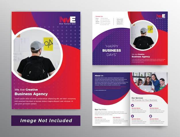 Kleurrijke tweevoudige bedrijfsbrochure