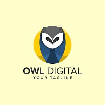 Kleurrijke uil logo ontwerp