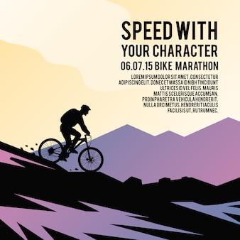 Kleurrijke vector poster.