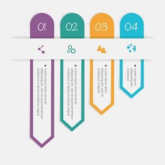 Kleurrijke vectorafbeeldingen voor uw zakelijke presentaties.