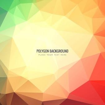 Kleurrijke veelhoekige achtergrond