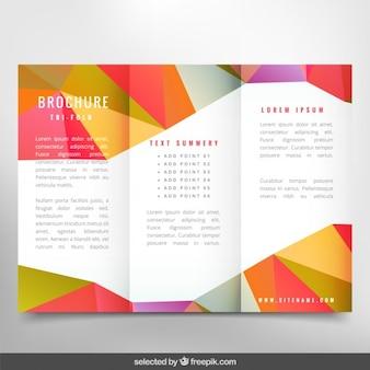 Kleurrijke veelhoekige brochure