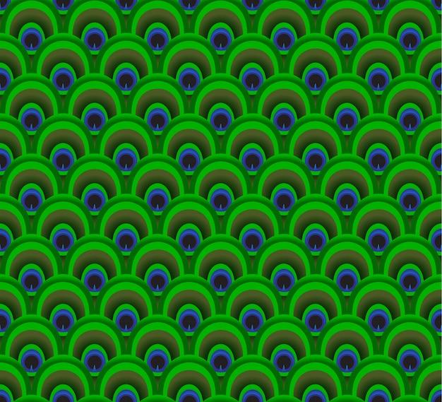 Kleurrijke veer van pauw naadloos achtergrondpatroon
