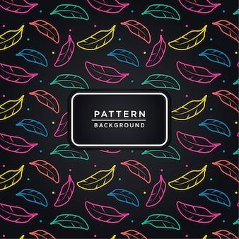 Kleurrijke veren patroon achtergrond