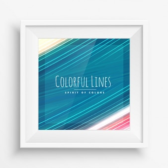 Kleurrijke verf beroertes lijnen