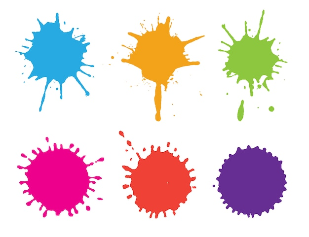 Kleurrijke verfspatten