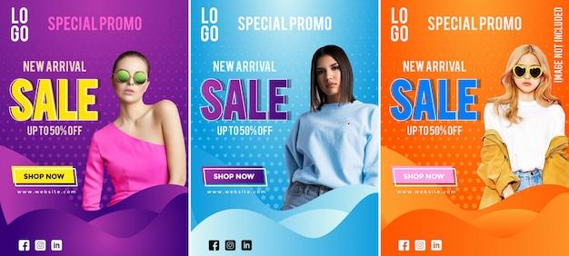 Kleurrijke verhaalverzameling fashion sale
