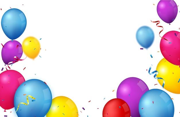 Kleurrijke verjaardag viering achtergrond met ballonnen