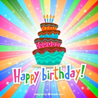 Kleurrijke verjaardag wenskaart