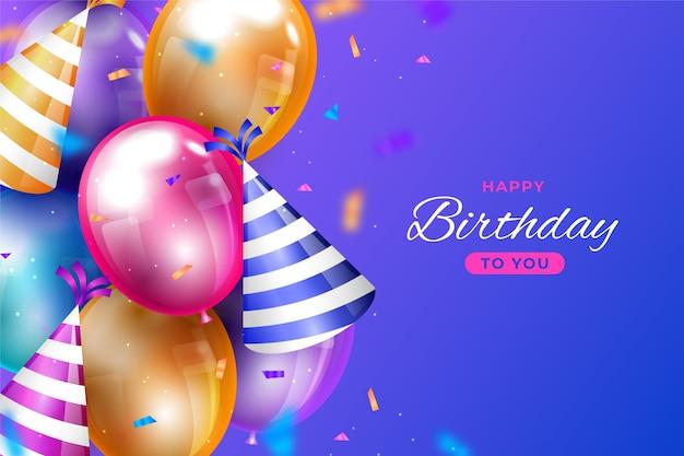 Kleurrijke verjaardagsachtergrond