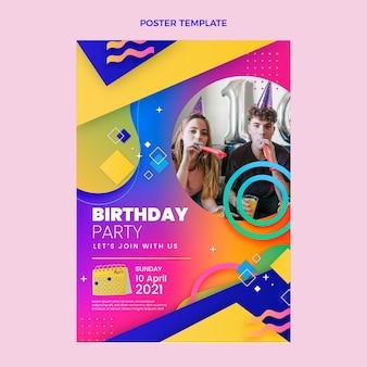 Kleurrijke verjaardagsaffiche met kleurovergang