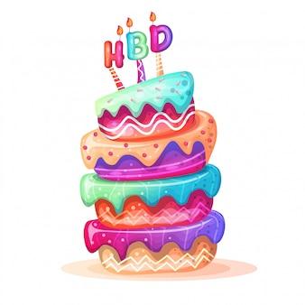 Kleurrijke verjaardagstaarten