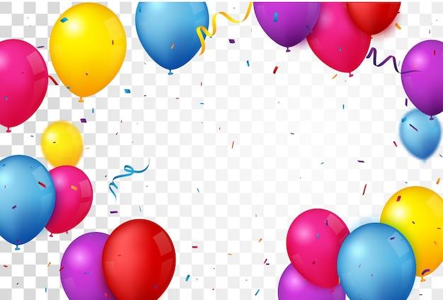 Kleurrijke verjaardagsviering met ballonnen