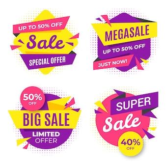Kleurrijke verkoop banner set
