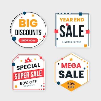 Kleurrijke verkoop banners collectie met schattige frames