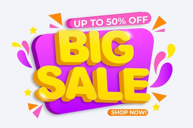 Kleurrijke verkoopachtergrond met grote verkoop