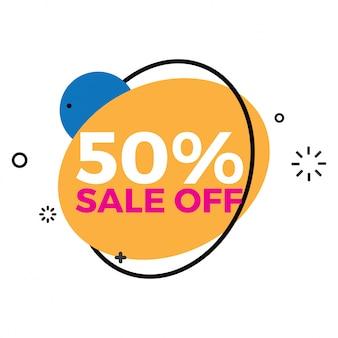Kleurrijke verkoopbanner 50% korting