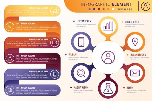 Kleurrijke verloop infographic