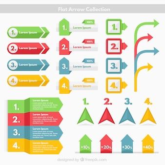 Kleurrijke verscheidenheid van infographic elementen