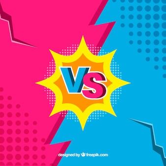 Kleurrijke versus achtergrond met gebroken muur