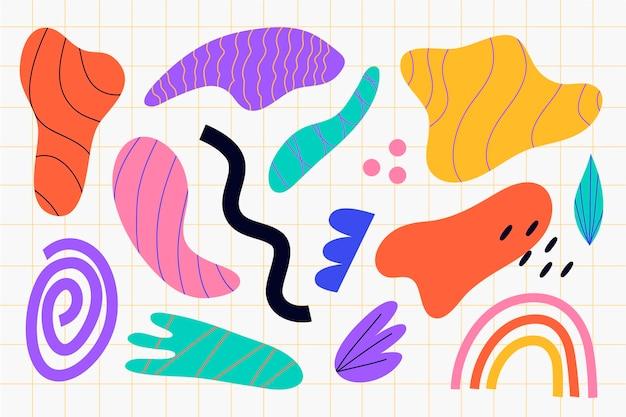 Kleurrijke verzameling abstracte vormen