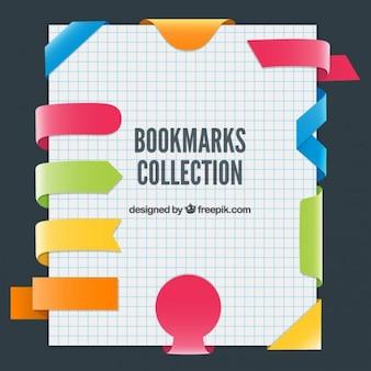 Kleurrijke verzameling bookmarks