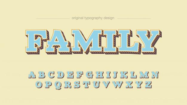 Kleurrijke vette aangepaste lichtblauwe typografie