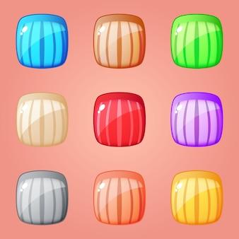 Kleurrijke vierkante blokpuzzel voor match 3-spellen