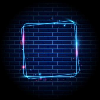 Kleurrijke vierkante lichte frame achtergrond