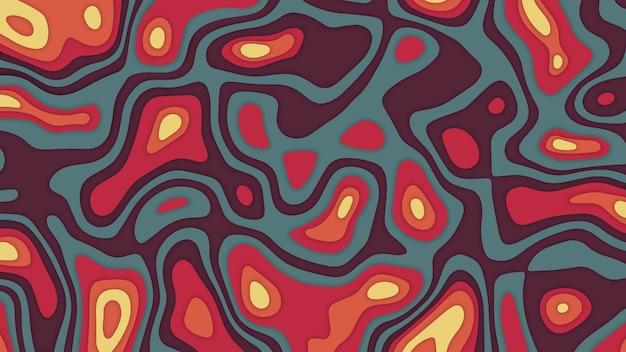 Kleurrijke vintage palet 3d vector abstracte achtergrond