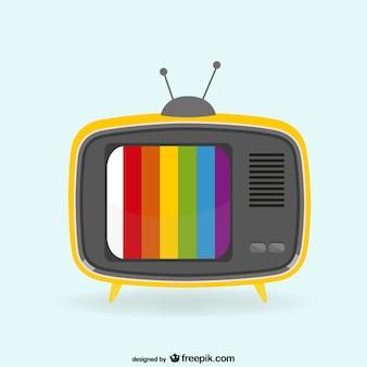 Kleurrijke vintage tv-toestel