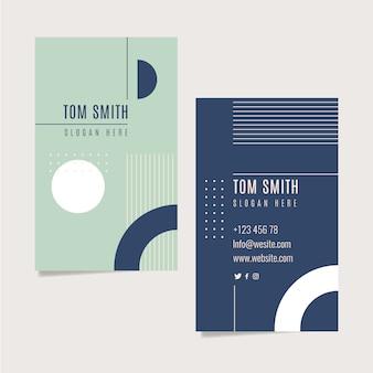 Kleurrijke visitekaartje set