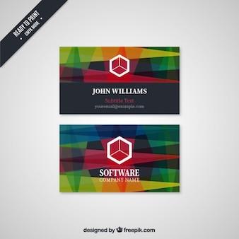 Kleurrijke visiting card