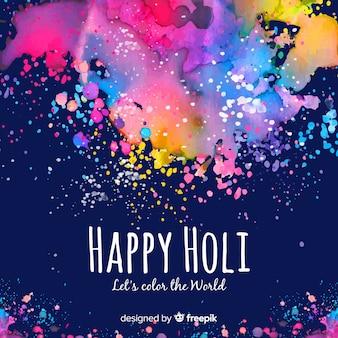 Kleurrijke vlekken holi festival achtergrond