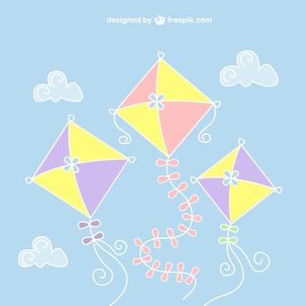 Kleurrijke vliegers vector Gratis Vector