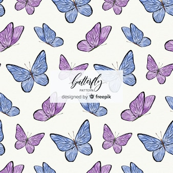 Kleurrijke vlinder achtergrond