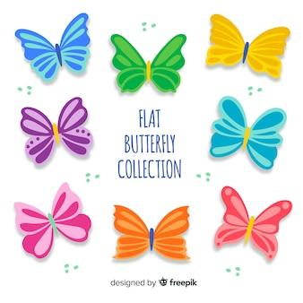 Kleurrijke vlinders instellen