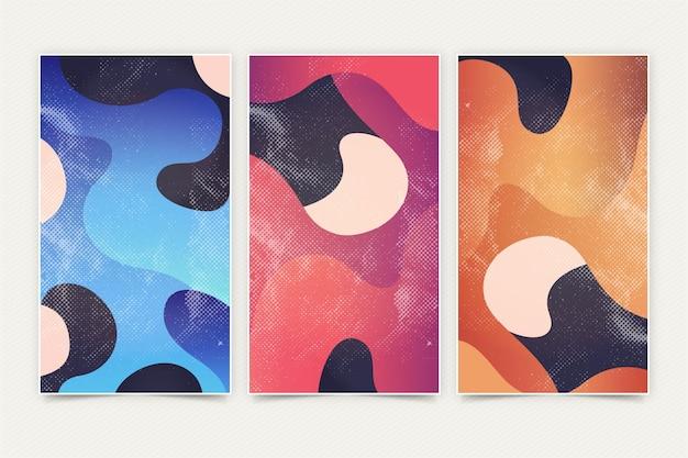 Kleurrijke vloeibare abstracte banners