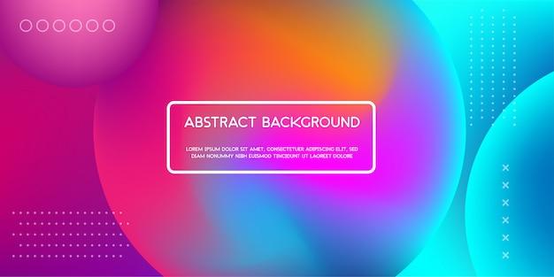 Kleurrijke vloeibare achtergrond voor webpagina-bestemmingspagina
