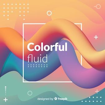 Kleurrijke vloeiende 3d vorm achtergrond
