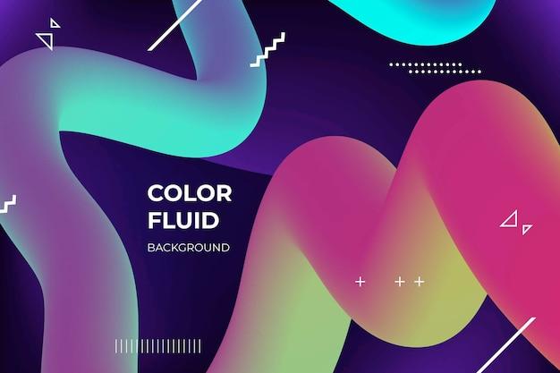 Kleurrijke vloeiende 3d-vormen achtergrond