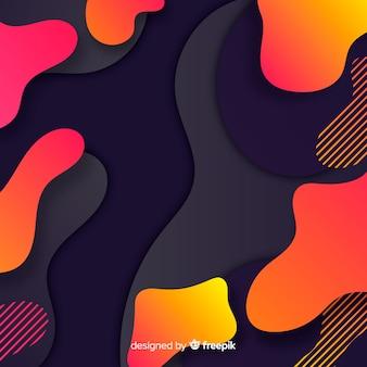 Kleurrijke vloeiende vormen achtergrond