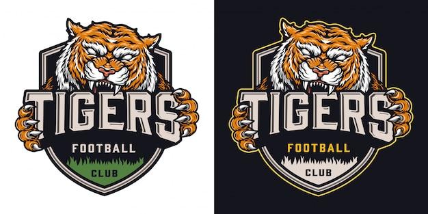 Kleurrijke voetbalteam badge
