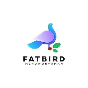 Kleurrijke vogel illustratie logo sjabloon