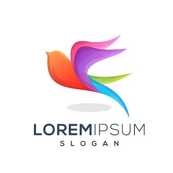 Kleurrijke vogel logo ontwerp