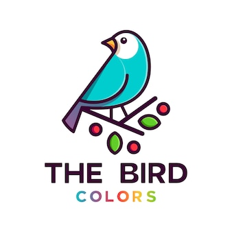 Kleurrijke vogel logoo