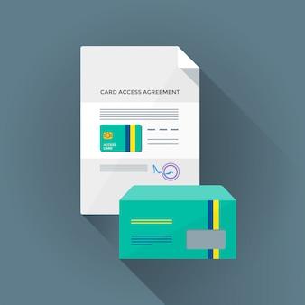 Kleurrijke voorwaardelijke kaart toegang instellen illustratie
