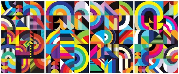 Kleurrijke vormen dekken